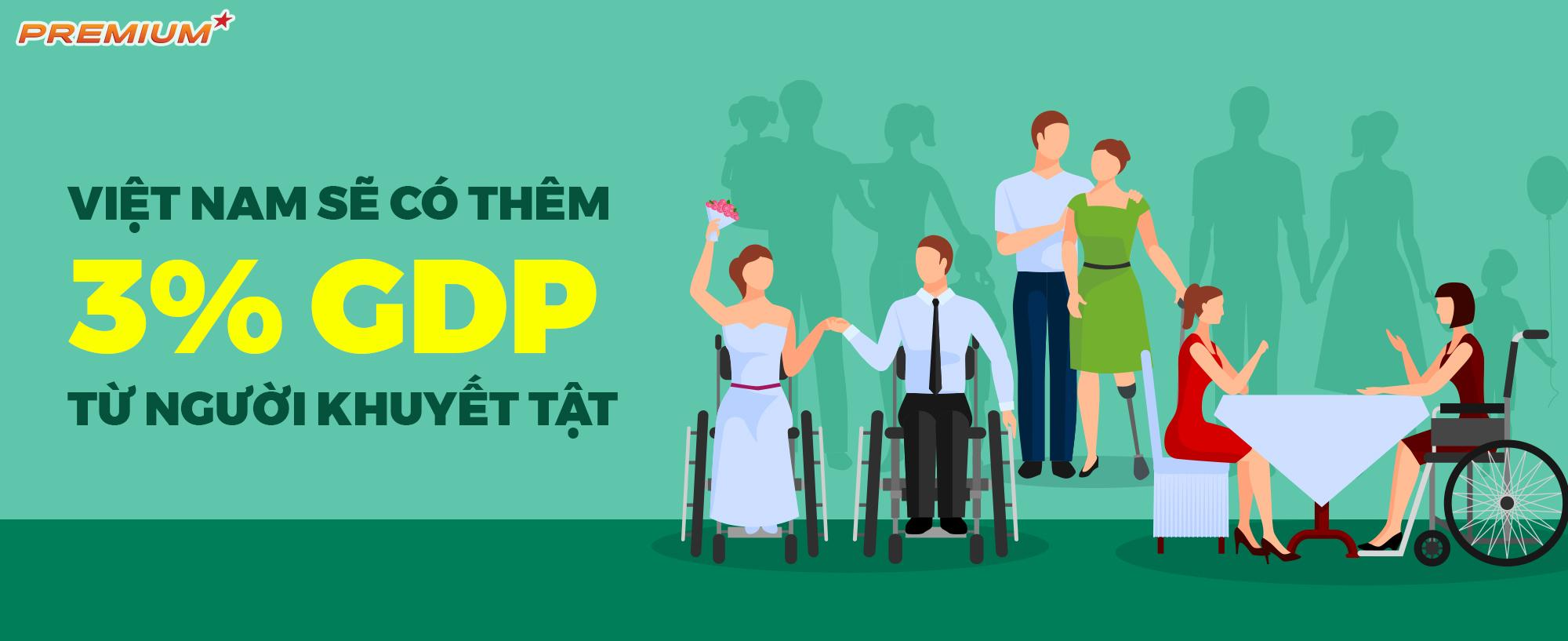 Việt Nam sẽ có thêm 3% GDP từ người khuyết tật