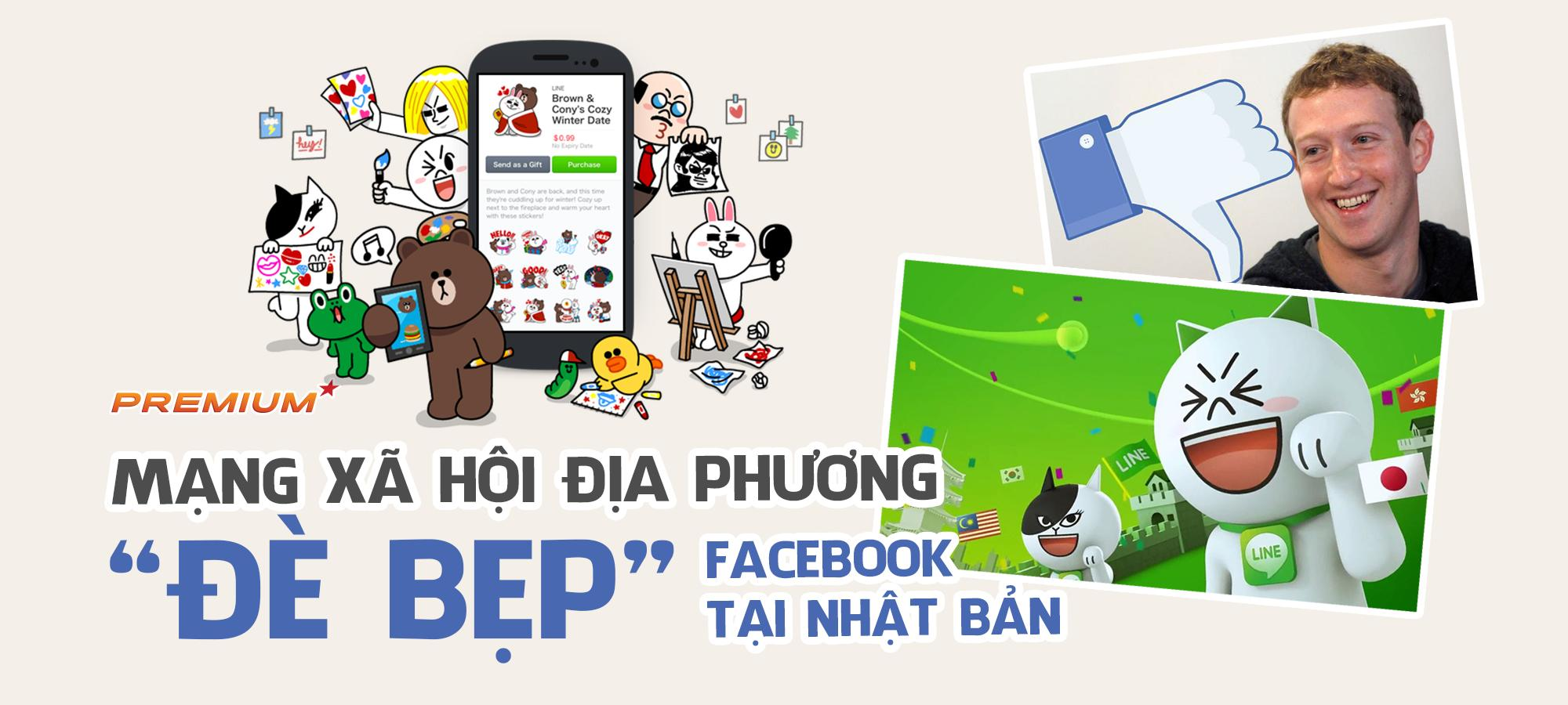 """Mạng xã hội địa phương """"đè bẹp"""" Facebook tại Nhật Bản"""