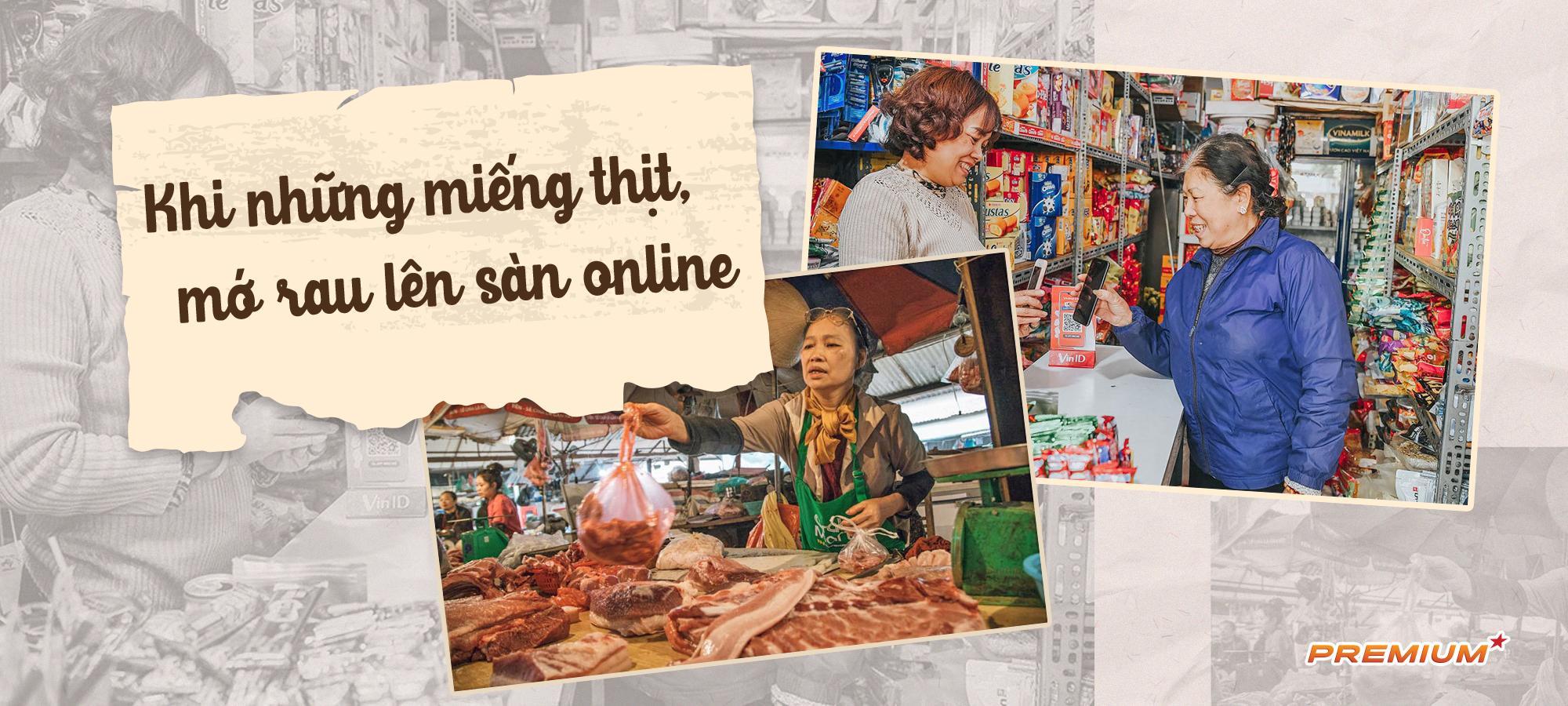Khi những miếng thịt, mớ rau lên sàn online