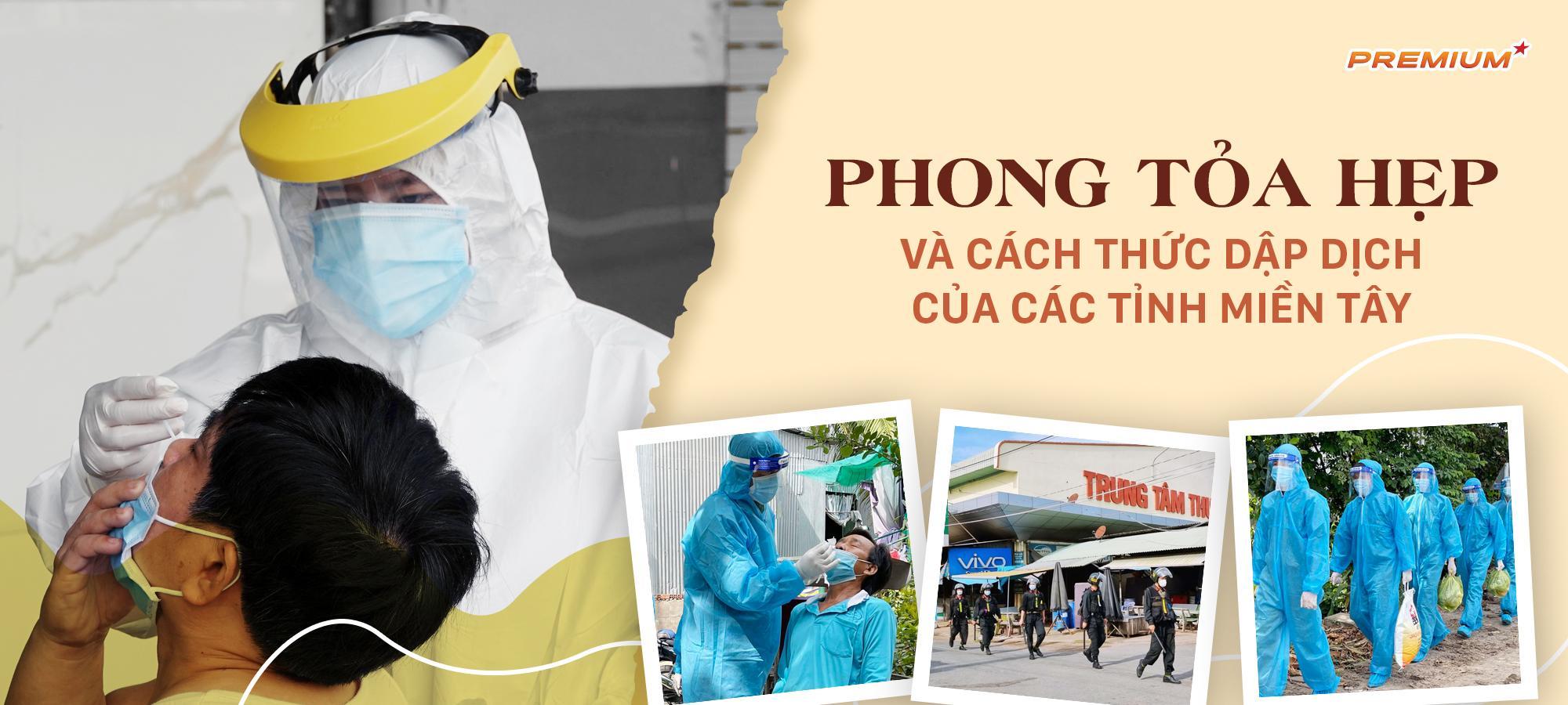 Phong tỏa hẹp và cách thức dập dịch của các tỉnh miền Tây